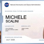 Boarding Pass per Marte